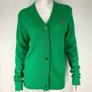 Vintage Lacoste Haymaker 38 Green Cardigan